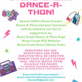 Dance-a-thon sponsorship